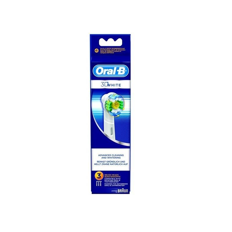 RECAMBIO CEPILLO ELECTRICO ORAL-B 3D WHITE 3 U (EB18-3) c204ad86004d