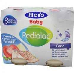 PEDIALAC CENA CREMA VERDURAS C/ PESCADILLA HERO BABY 200 G 2 U