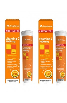 ARKOVITAL VITAMINA C 1000MG + ZINC  COMP EFERVES  20 COMP